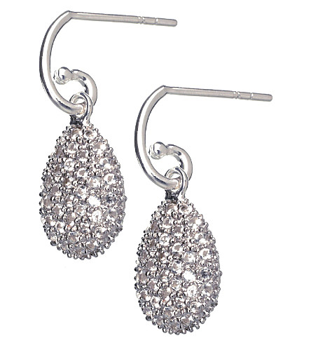 LINKS OF LONDON Hope Egg white topaz earrings