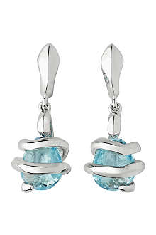 LINKS OF LONDON Entwine Stiletto Blue Topaz sterling silver earrings