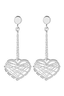 LINKS OF LONDON Dream catcher heart earrings