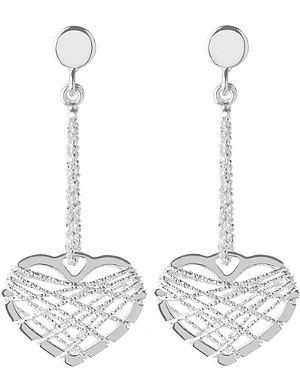 LINKS OF LONDON Dream catcher heart earrings