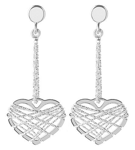 LINKS OF LONDON Dream catcher heart earrings (Silver