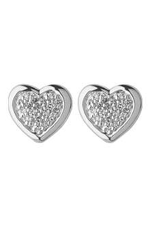 LINKS OF LONDON Diamond heart stud earrings