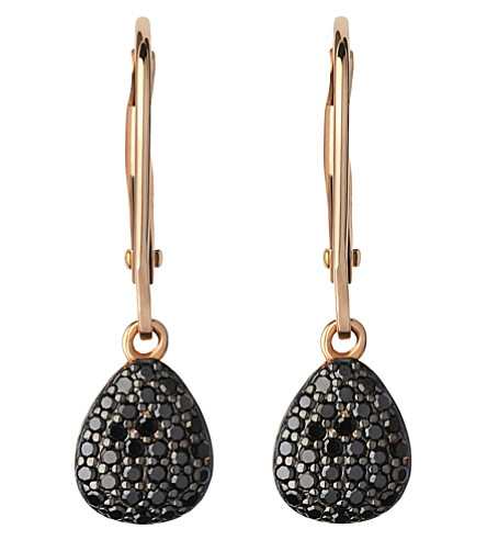 LINKS OF LONDON Hope 18ct yellow-gold and black diamond earrings