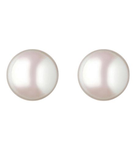 LINKS OF LONDON Effervescence large pearl stud earrings (White