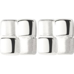 Cubist sterling silver stud earrings