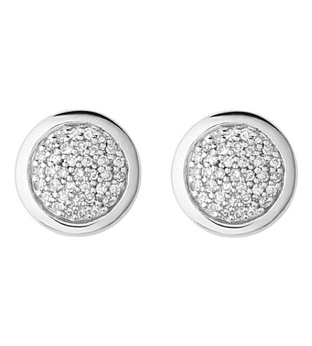 LINKS OF LONDON 钻石精华纯银和钻石耳环