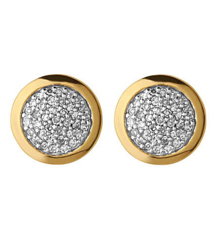 LINKS OF LONDON DIAMOND ESSENTIALS GOLD AND DIAMOND STUD EARRINGS