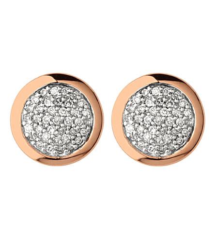 LINKS OF LONDON 金刚石精华 Rose Gold 文梅尔和金刚石螺柱耳环