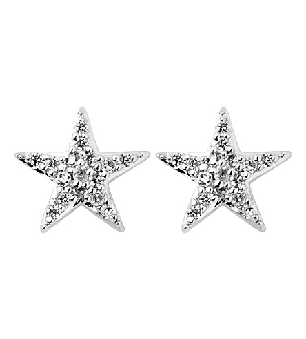 LINKS OF LONDON Diamond Essentials sterling silver and diamond star earrings