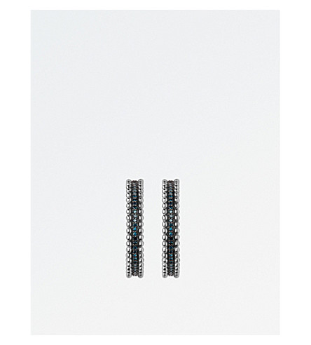 LINKS OF LONDON Effervescence sterling silver and diamond hoop earrings
