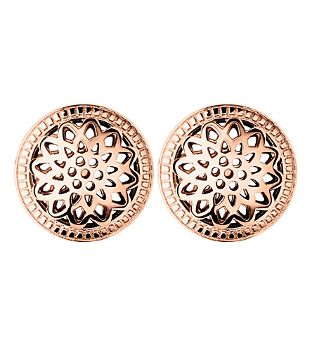 LINKS OF LONDON Timeless 18ct rose-gold vermeil stud earrings