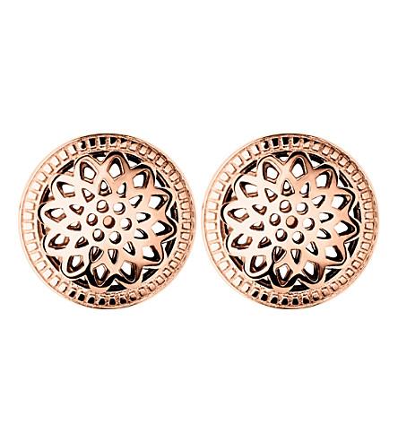 LINKS OF LONDON 永恒的18ct 玫瑰金文梅尔螺柱耳环