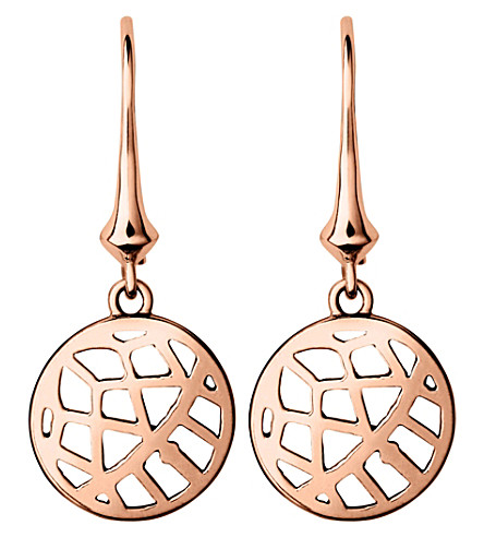 LINKS OF LONDON Timeless 18ct rose-gold vermeil drop earrings