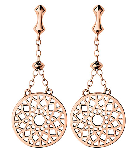 LINKS OF LONDON Timeless 18ct rose-gold vermeil earrings