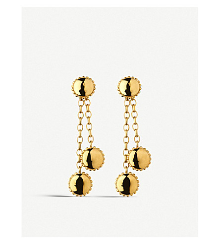 LINKS OF LONDON Amulet 18ct gold vermeil drop earrings (Gold