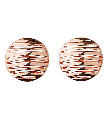 LINKS OF LONDON Thames 18ct rose gold vermeil earrings (Rose+gold