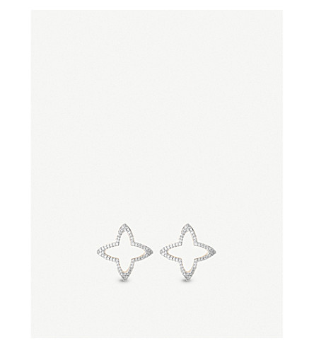 LINKS OF LONDON Splendour 18ct yellow-gold diamond four-point star earrings