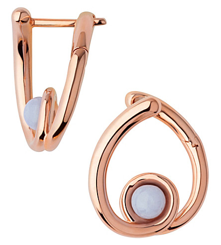 LINKS OF LONDON Serpentine Rose & Agate Hoop Earrings