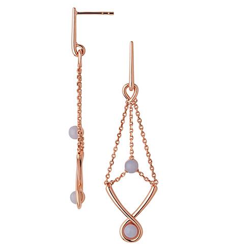 LINKS OF LONDON Serpentine Rose & Agate Drop Earrings