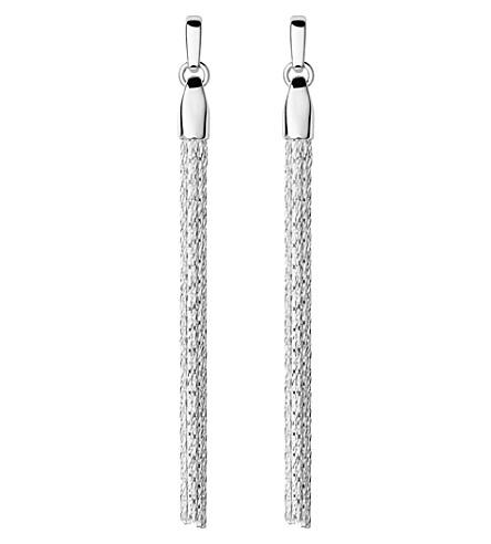 LINKS OF LONDON Essentials silver silk row earrings