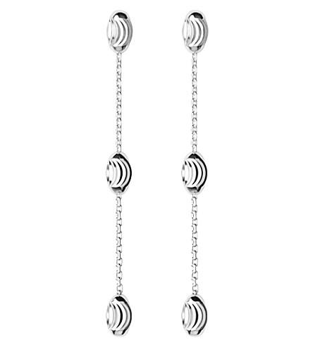 LINKS OF LONDON Essentials sterling silver beaded drop earrings