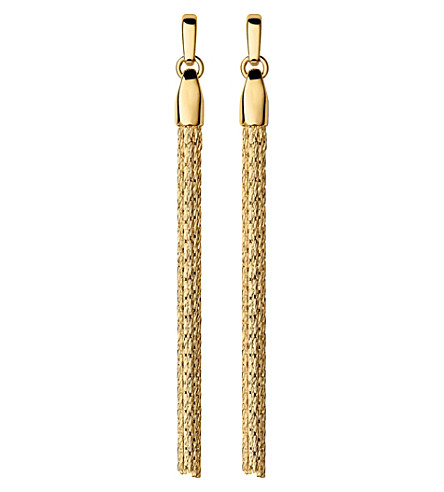 LINKS OF LONDON Essentials 18ct yellow-gold vermeil silk row earrings