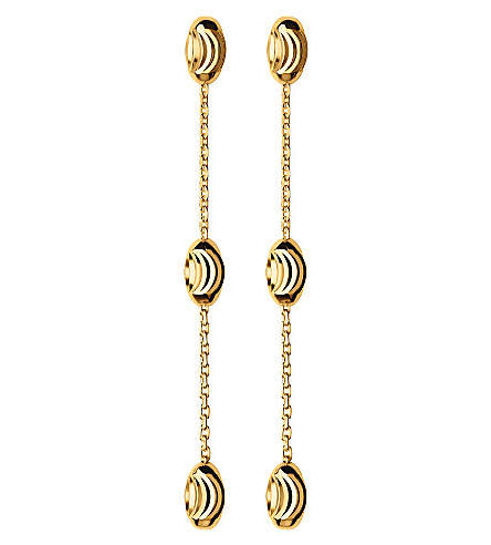 LINKS OF LONDON Essentials 18ct yellow-gold vermeil beaded drop earrings