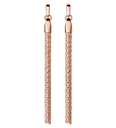 LINKS OF LONDON Essentials rose-gold vermeil silk row earrings