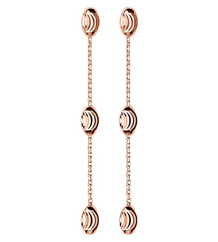 LINKS OF LONDON Essentials rose-gold vermeil beaded drop earrings