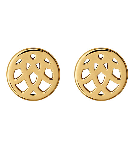 LINKS OF LONDON Timeless 18ct yellow gold-vermeil studs