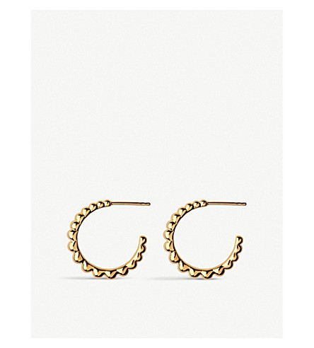 LINKS OF LONDON EFFERVESCENCE ESSENTIALS 18CT YELLOW-GOLD VERMEIL HOOP EARRINGS