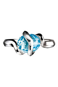 LINKS OF LONDON Entwine blue topaz ring