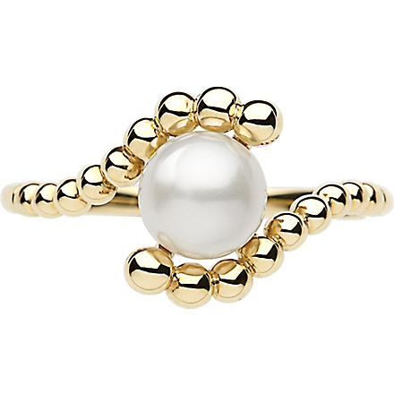 LINKS OF LONDON Effervescence 18 carat gold mini pearl ring
