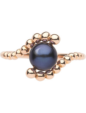 LINKS OF LONDON Effervescence 18 carat rose gold mini pearl ring