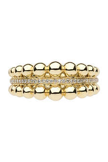 LINKS OF LONDON Effervescence bubble 18ct yellow-gold and diamond ring