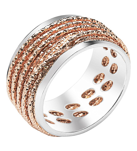 LINKS OF LONDON Celeste 18ct rose gold vermeil and sterling silver ring (Mixed+metal