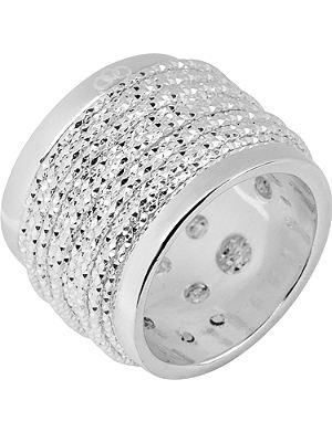 LINKS OF LONDON Celeste wide wrap silver ring