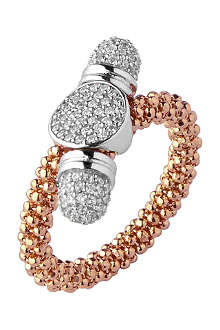 LINKS OF LONDON Star Dust rose gold round toggle ring