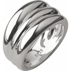 Hope triple stack sterling silver ring