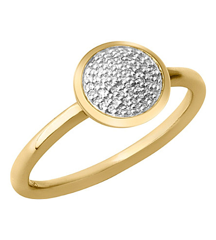 LINKS OF LONDON Diamond Essentials 18-carat yellow-gold vermeil and diamond ring