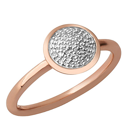 LINKS OF LONDON Diamond Essentials 18ct rose-gold vermeil and diamond ring