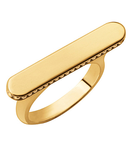 LINKS OF LONDON Narrative long 18ct gold vermeil ring (Gold