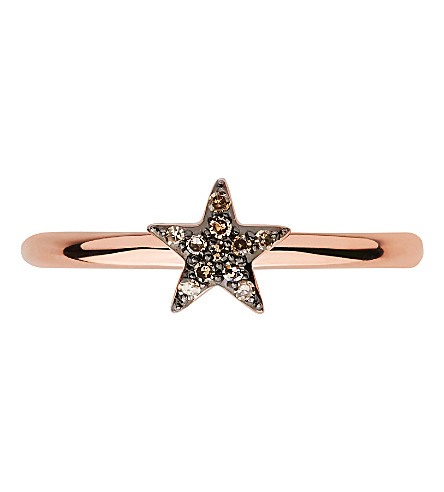 LINKS OF LONDON Diamond Essentials 18ct rose-gold vermeil and diamond star ring
