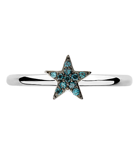 LINKS OF LONDON Diamond Essentials sterling silver and diamond star ring