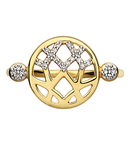 LINKS OF LONDON Timeless Gold 18ct yellow-gold and diamond ring