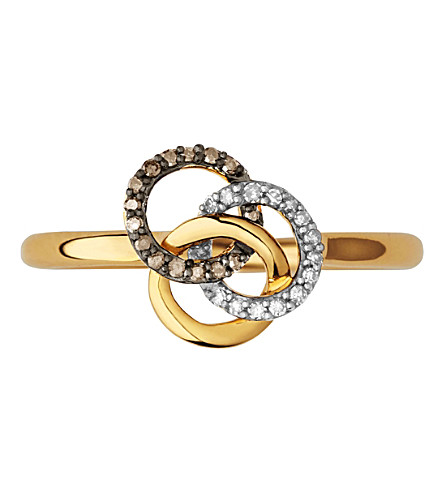 LINKS OF LONDON Treasured 18ct yellow-gold vermeil and diamond ring (Gold