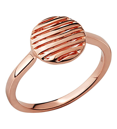 LINKS OF LONDON Thames 18ct rose-gold vermeil ring (N