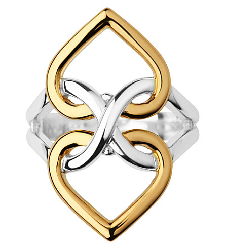 LINKS OF LONDON Infinite Love 18ct yellow-gold vermeil and sterling silver ring (Silver