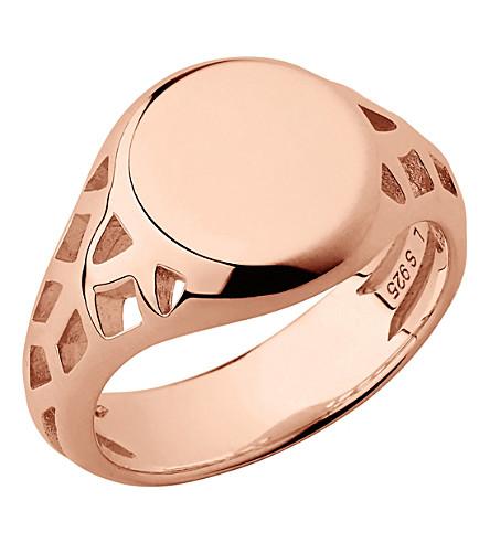 LINKS OF LONDON Timeless 18ct rose gold-vermeil signet ring