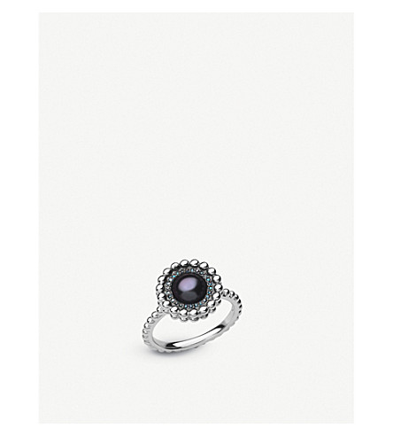 LINKS OF LONDON Effervescence sterling silver, diamond and pearl ring